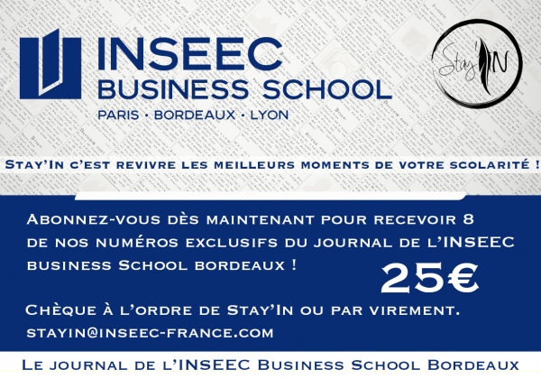 L'ADI soutient Stay'In, le journal de l'INSEEC Business School Bordeaux !