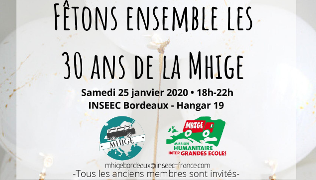 [Save the date] Le 25/01/20 : 30 ans de la MHIGE